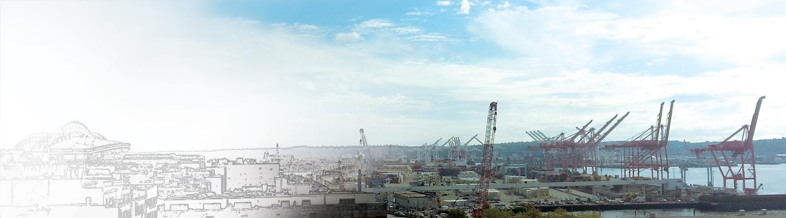Port of Seattle cranes